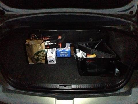 Подсветка багажника из диодной ленты